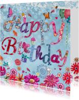 Happy Birthday Letters Bloemen