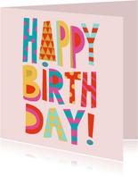 Happy Birthday verjaardagskaart vrouw