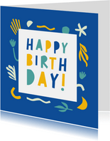 Happy Birthday vrolijke vormen