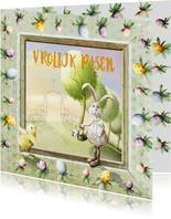 Blije paashaas - vrolijk pasen