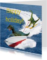 Vakantiekaarten - Happy holiday dino