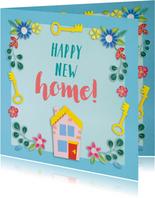 Happy new home felicitatiekaart