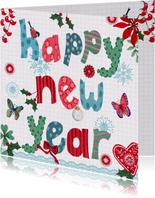 Happy New Year letters vrolijk