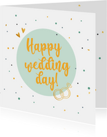Happy wedding day! - felicitatiekaart