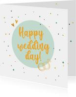 Happy wedding day! - felicitatiekaart