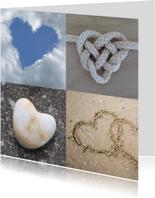 Hartenkaart met vier harten