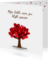 Hartjesboom met tekst voor moederdag