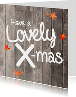 Have a Lovely X-mas - kaart hout