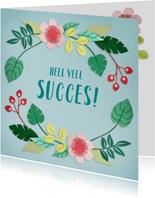 Heel veel succes! bloemenrand