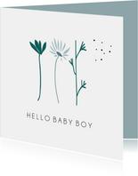 Hello Baby Boy, schattige bloemen