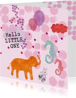 Hello little one! Lief geboorte kaartje
