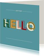 Hello - retro - zomaarkaart