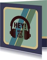 Hey how are you? - retro - zomaarkaart