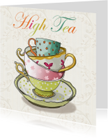 High tea illustratiekaart