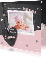 Hip babykaartje krijtbord