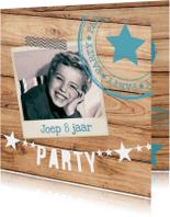 hippe kinderfeestuitnodiging