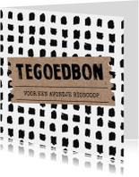 Uitnodigingen - Hippe tegoedbon kaart Kraft