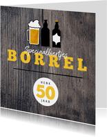 Hippe Uitnodiging Houtlook speciaal biertjes borrel