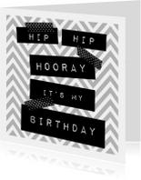 Hippe uitnodiging voor verjaardag