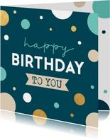 Hippe verjaardagskaart met confetti