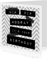 hippe verjaardagskaart met washi tape