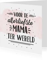 Hipper moederdag handlettering kaart - liefste mama