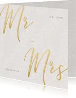 Hochzeit Karte Glückwunsch Mr. and Mrs.