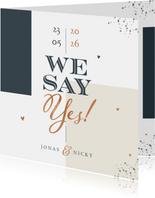 Hochzeitseinladung 'We say yes' grafisch