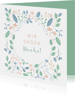 Hochzeitsjubiläum Danksagungskarte Blumen
