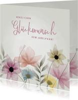Hochzeitsjubiläum Glückwunschkarte Blumenwiese