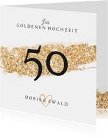 Hochzeitstag Glückwunschkarte 50 goldene Hochzeit