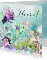 Hoera geschilderde bloemen