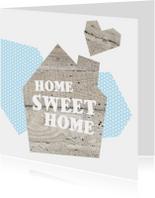 Home Sweet Home verhuis kaart