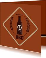 Hooray HBD - retro - verjaardagskaart