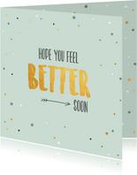 Hope you feel better soon-beterschapskaart