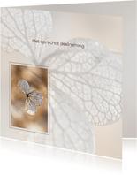 Hortensiabloem in kader