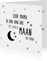 Hou van je mama tot de maan en terug