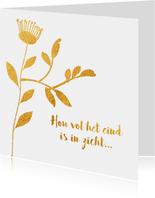 Hou vol het eind is in zicht - gold - beterschapskaart