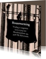 Housewarming bord zelf invullen
