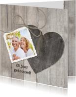 Houten Hart 25 jaar getrouwd