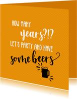 How many years?!? - verjaardagskaart