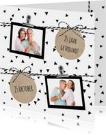 Huwelijk driehoekjes confetti