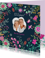 Huwelijks jubileum 12,5 jaar bloemen