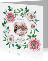 Huwelijksjubileum 40 jaar botanisch bloemen