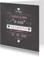 Huwelijksjubileum Affiche Tekst