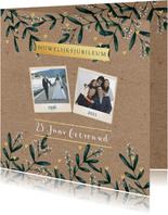 Huwelijksjubileum eucalyptus kraftlook foto's