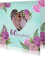 huwelijksjubileum hart rozen