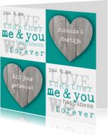 Huwelijksjubileum harten tekst