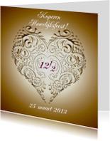 huwelijksjubileum koper met hart