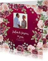 Huwelijksjubileum rozen bordeaux